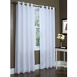 Commonwealth Home Fashions Rhapsody 84-Inch Grommet Window Curtain Panel in Mushroom
