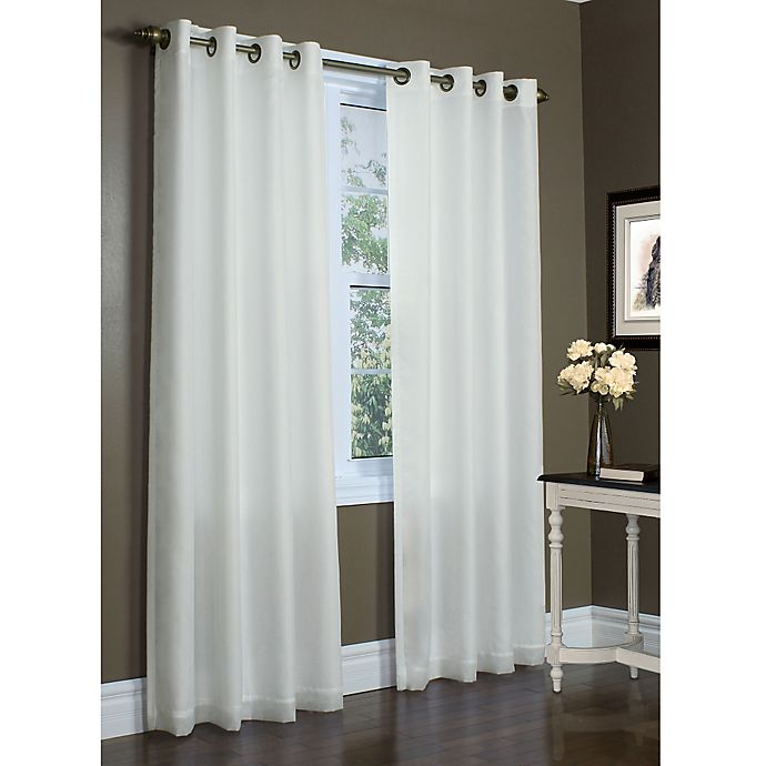 Alternate image 1 for Rhapsody 108-Inch Grommet Top Window Curtain Panel in Ivory