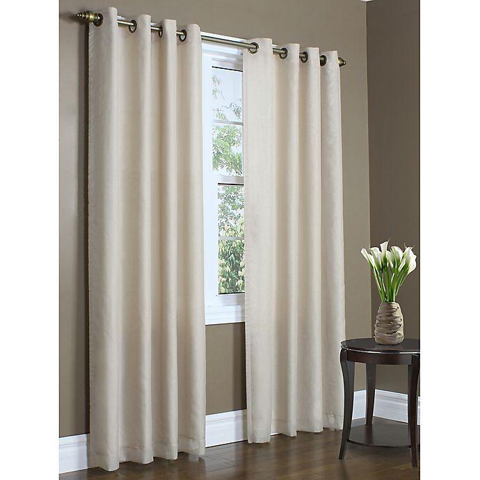 Alternate image 1 for Rhapsody 95-Inch Double Width Grommet Window Curtain Panel in Mushroom