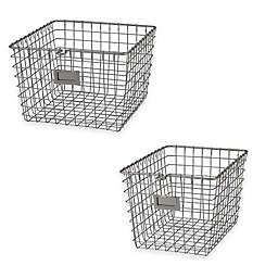 Spectrum® Metal Wire Storage Basket in Satin Nickel