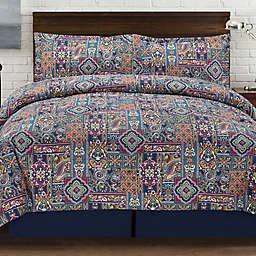 Tao Reversible Comforter Set in Navy