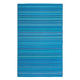 FH Home Havana Recycled Patio Mat in Turquoise