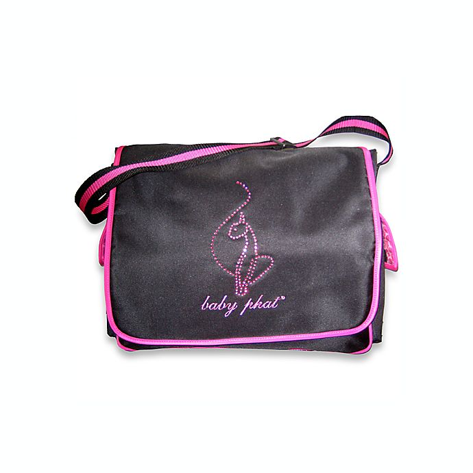 Baby Phat Pink And Black Diaper Bag