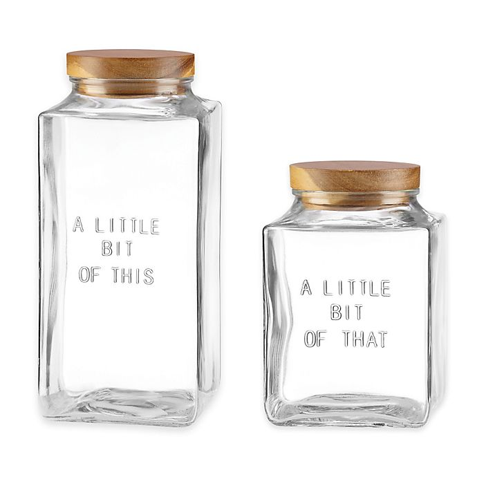 Alternate image 1 for kate spade new york All In Good Taste Glass Canisters