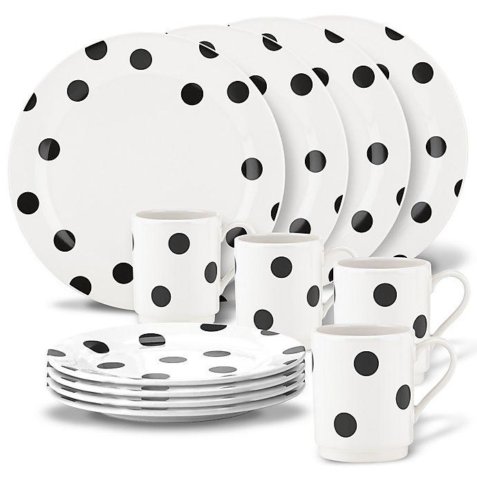 Alternate image 1 for kate spade new york All in Good Taste™ Deco Dot Dinnerware Collection In Black