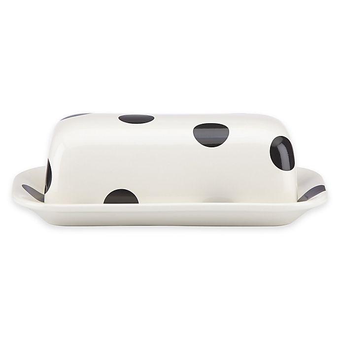 Alternate image 1 for kate spade new york All in Good Taste™ Deco Dot Covered Butter Dish