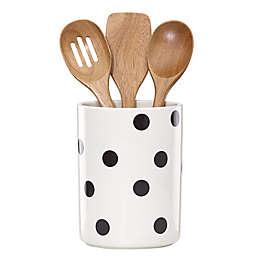 kate spade new york All in Good Taste™ Deco Dot Utensil Crock with 3 Utensils