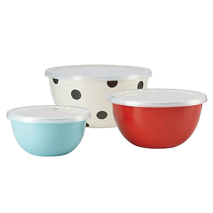 Alternate image 1 for kate spade new york All in Good Taste Serve and Store Bowls (Set of 3)