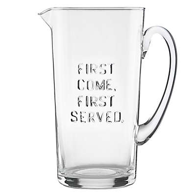 """kate spade new york All In Good Taste """"First Come First Served"""" Pitcher"""
