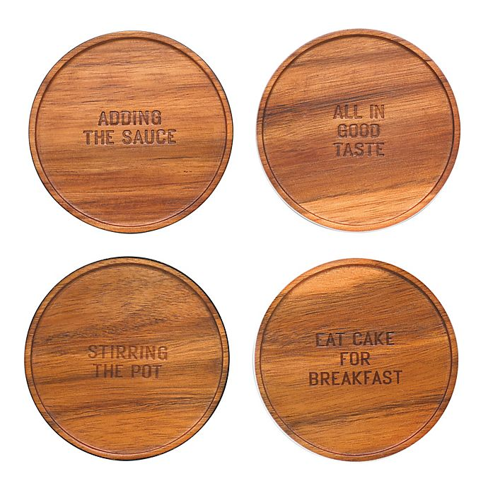 Alternate image 1 for kate spade new york All In Good Taste Coasters (Set of 4)