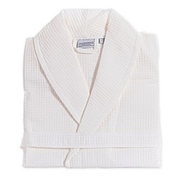 Linum Home Textiles Unisex Turkish Cotton Waffle Bathrobe in White