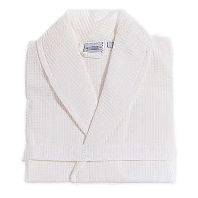 Linum Home Textiles Unisex Turkish Cotton Waffle Bathrobe in White