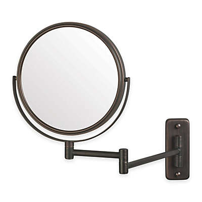 Jerdon 5X Round Wall Mount Mirror in Bronze