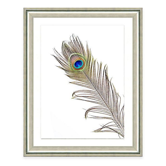 Alternate image 1 for Blue Feather II Framed Art Print