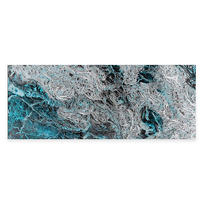 Alternate image 1 for Storm Turquoise Abstract Metal Wall Art
