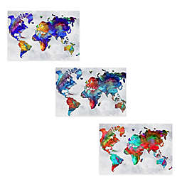 Beauty of Color Rainbow Map Print on Metal