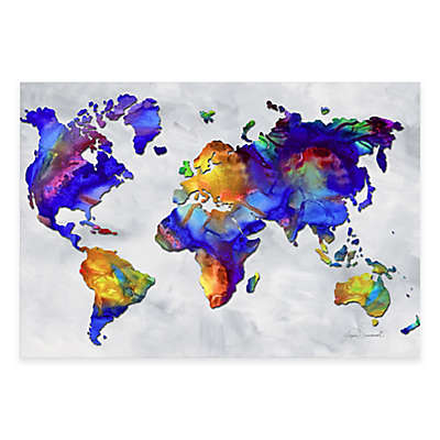 Beauty of Color v2.4 Rainbow Map Print on Metal