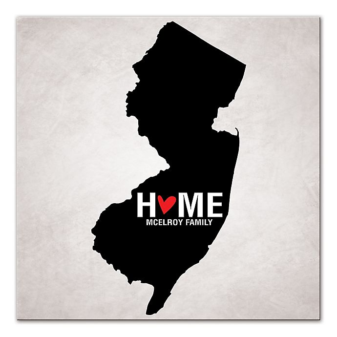 Alternate image 1 for Pied Piper Creative New Jersey State Pride Canvas Wall Art