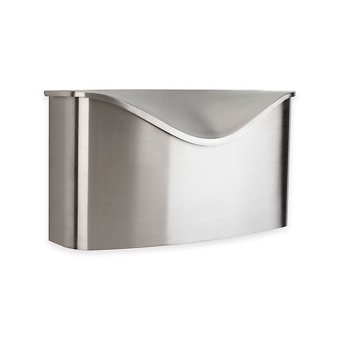 Umbra Postino Stainless Steel Wall Mount Mailbox With Hinged Lid