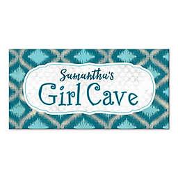 "Ikat ""Girl Cave"" Canvas Wall Art"