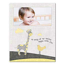 Giraffe and Bird Pals Canvas Wall Art