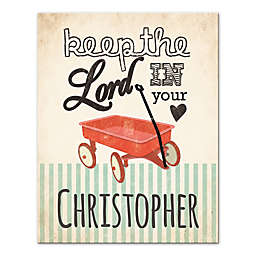 """""""Keep the Lord in Your Heart"""" 11-Inch x 16-Inch Canvas Wall Art"""