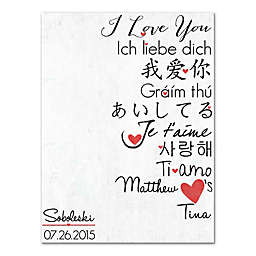I Love You In A Million Languages Canvas Wall Art