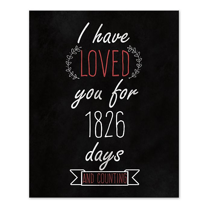 Alternate image 1 for Loved You Since Day One Canvas Wall Art