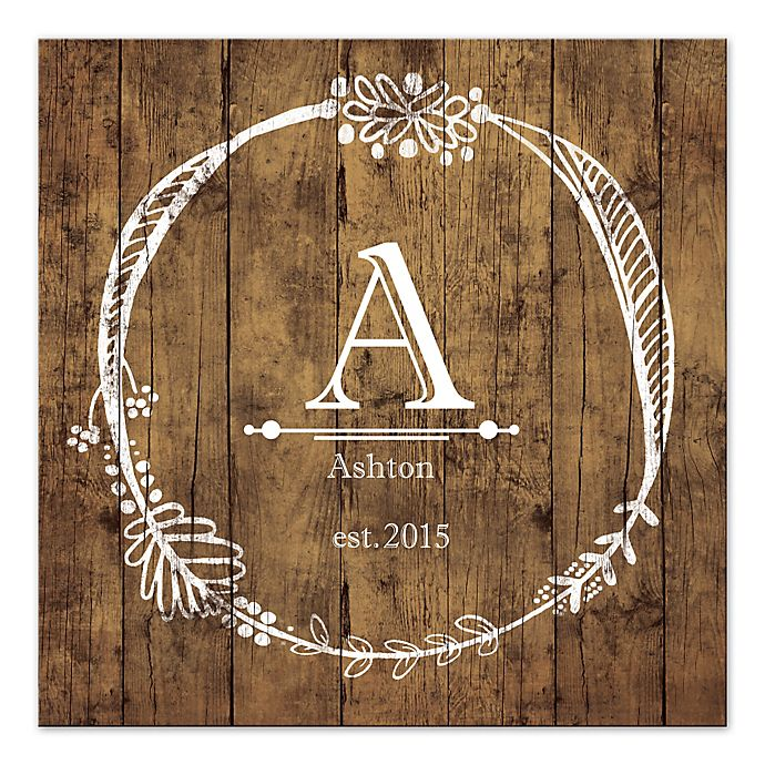 Alternate image 1 for Monogram Mania Canvas Wall Art