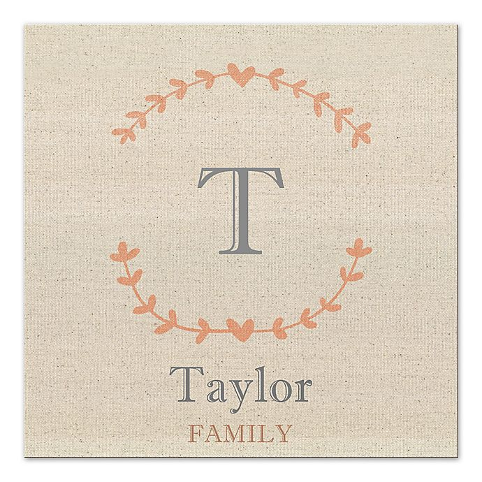 Alternate image 1 for Family Name Canvas Wall Art