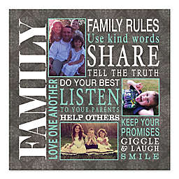 Pied Piper Creative Family Rule Collage Canvas Wall Art