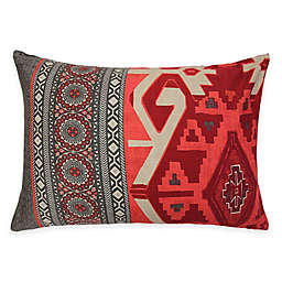 Nevada Standard Pillow Sham in Coral/Grey