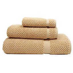Herringbone Washcloth in Warm Sand