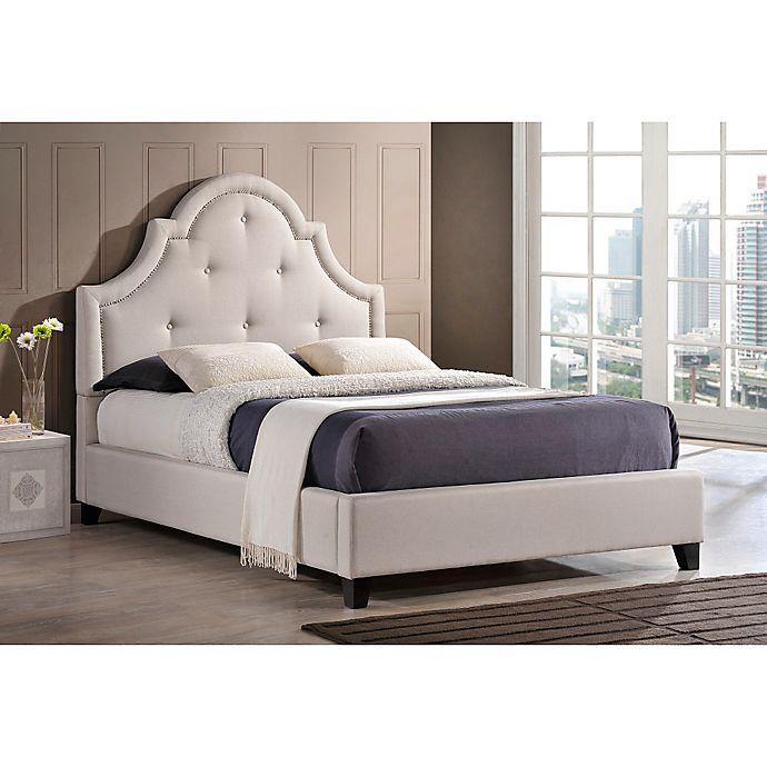 Alternate image 1 for Baxton Studio Colchester Linen Upholstered Platform Bed