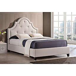Baxton Studio Colchester Linen Upholstered Platform Bed