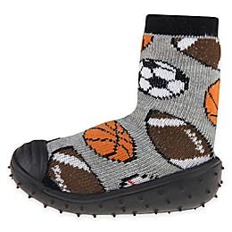 Capelli New York Pick A Sport Slipper Socks in Black