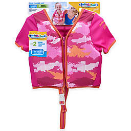 Aqua Leisure® Girls' Short Sleeve Camo Swim Vest in Pink