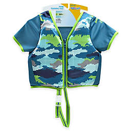 Aqua Leisure® Boys' Short Sleeve Camo Swim Vest in Blue