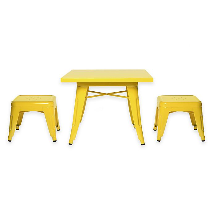 Alternate image 1 for Babyletto 3-Piece Lemonade Table and Stool Set in Pineapple