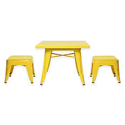 Babyletto 3-Piece Lemonade Table and Stool Set in Pineapple