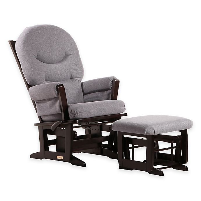 Alternate image 1 for Dutailier® Ultramotion Modern Glider and Nursing Ottoman in Espresso/Dark Grey