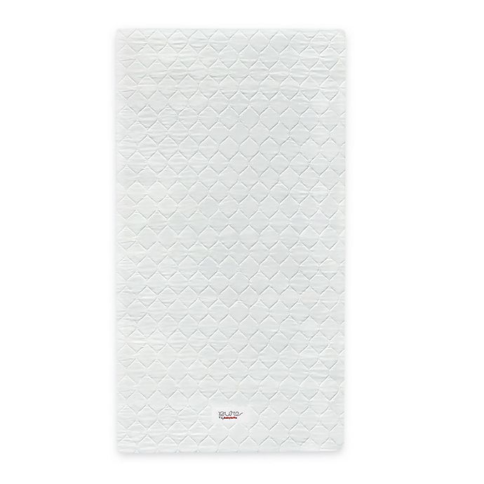 Alternate image 1 for Babyletto Pure Core Non-Toxic Mini Crib Mattress with Hybrid Cover in White