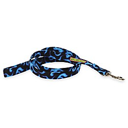 Donna Devlin Designs® 60-Inch  Blue Flame Dog Leashes in Blue/Black