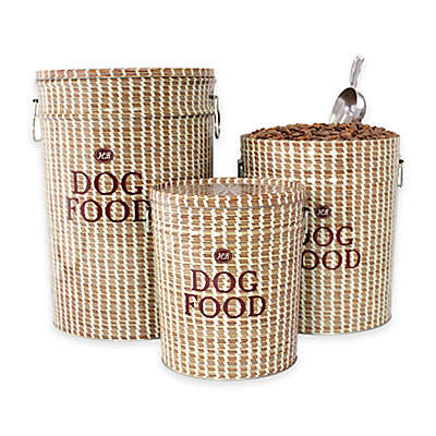 Harry Barker Sweetgrass Dog Food Container in Brown