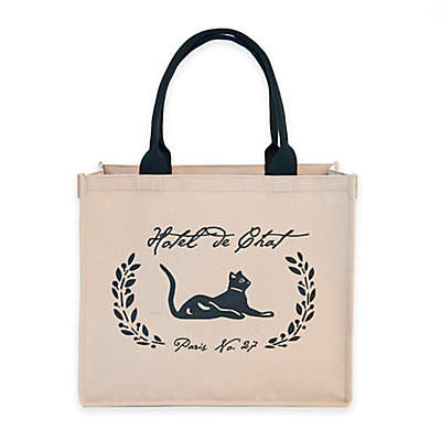 "Harry Barker® ""Hotel De Chat"" Tote in Natural"