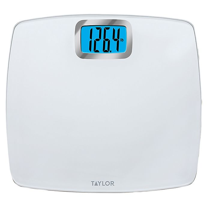 Alternate image 1 for Taylor Glass Digital Bathroom Scale with Bright White Platform