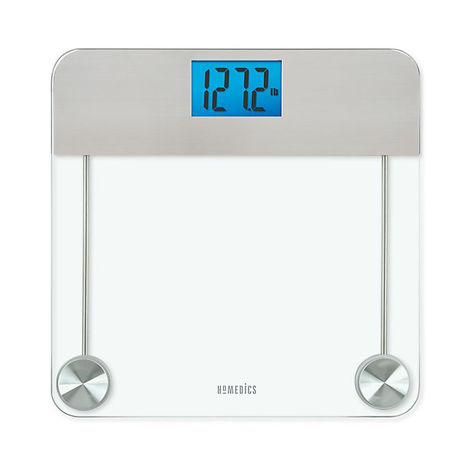 Alternate image 1 for HoMedics® Stainless Steel/Glass Digital Bathroom Scale