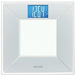 Taylor Digital Bathroom Scale with Dimensional Design in Dove White