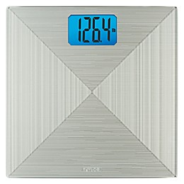 Taylor Digital Glass Bathroom Scale in Silver Metallic