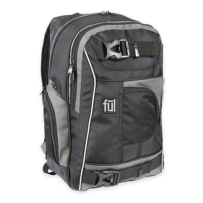 Alternate image 1 for ful® Apex 18-Inch Backpack in Black/Grey